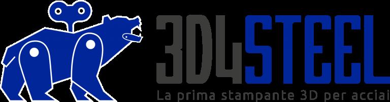 Logo stampante 3d acciaio