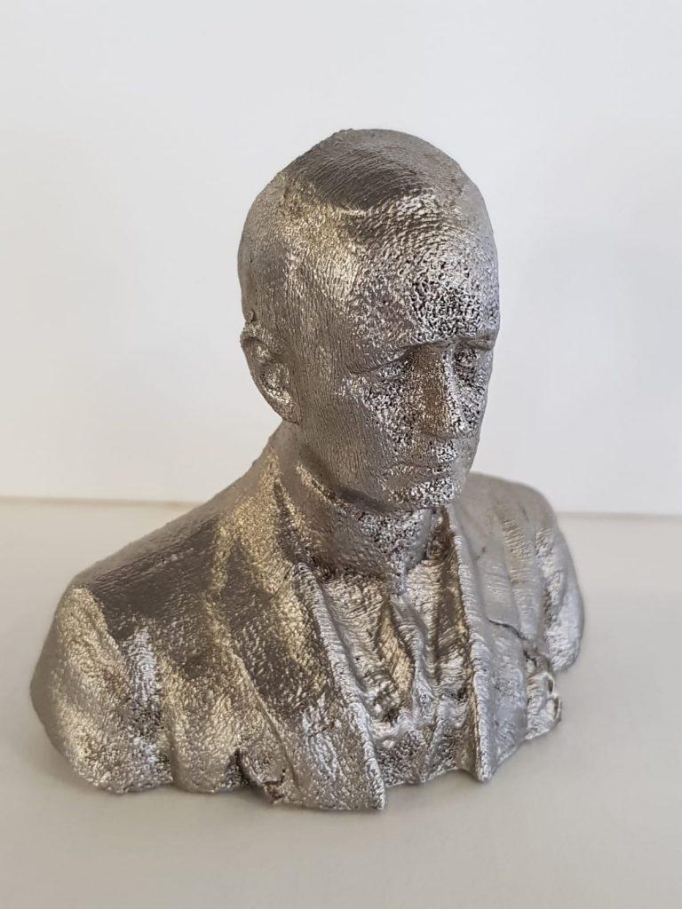 Busto di Guglielmo Marconi 3D4STEEL