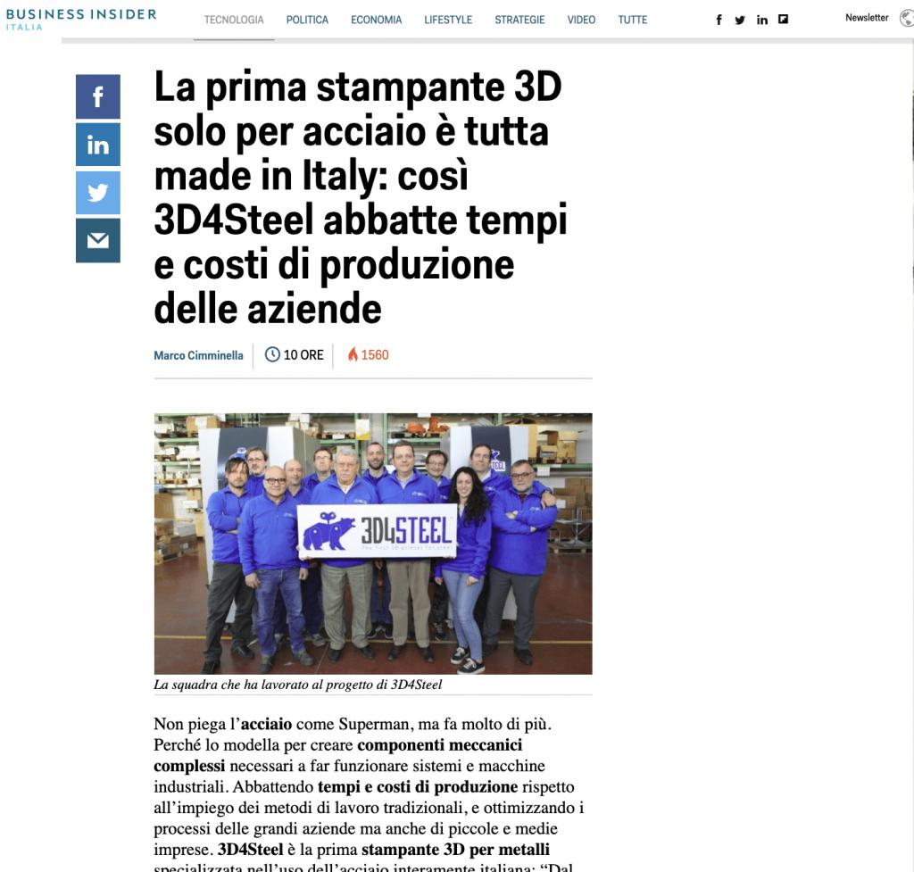 Business Insider - 3D4STEEL