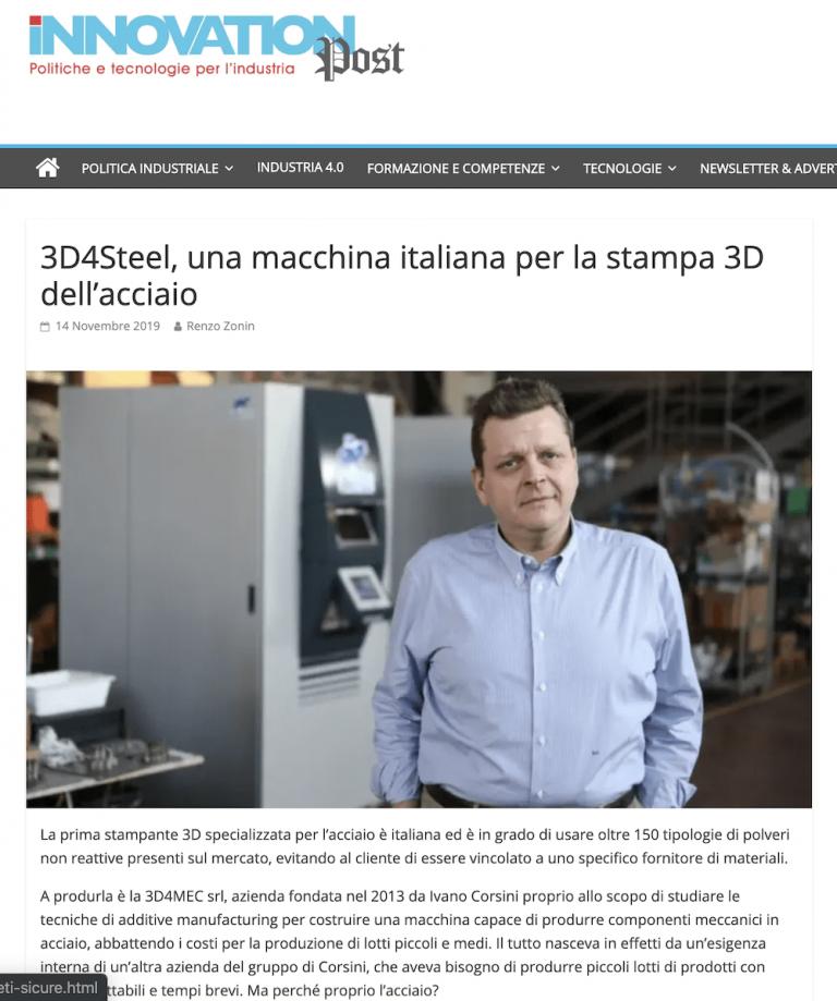 [Innovation Post] 3D4STEEL