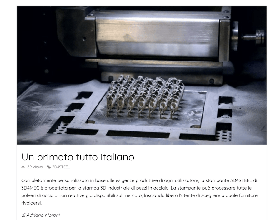 [Additive Journal] Un primato tutto italiano